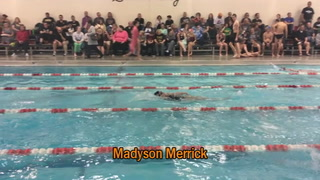 Merrick Takes 2nd in Girls 100 Yard Backstroke