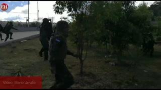 Capturas y desalojo de manifestantes en salida hacia Danlí