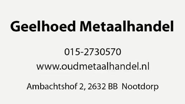 Geelhoed Metaalhandel BV - Bedrijfsvideo