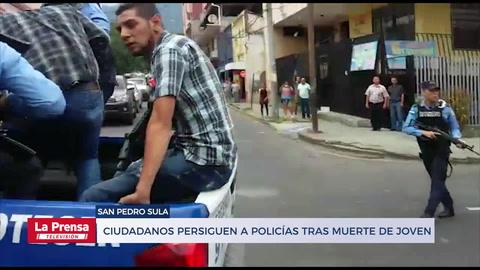 Ciudadanos persiguen a policías tras muerte de joven