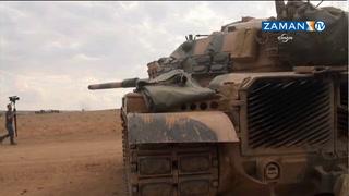 Tanklar sınıra dizildi