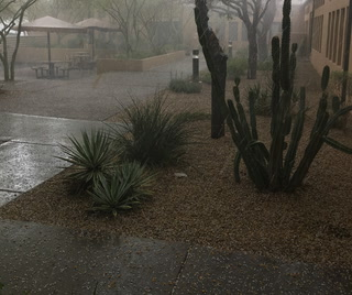 Raw Footage: Rare Hail Storm in Phoenix