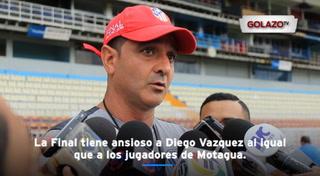 Diego Vazquez: '' Ellos se van a jugar el todo por el todo''