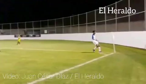 Selvin Guevara anota un gol para Honduras ante Belice en amistoso sub 19