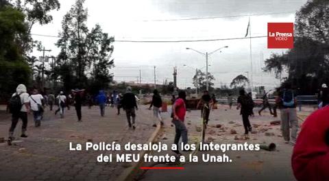 Crisis en la Unah: Integrantes del MEU y policías se enfretaron en Tegucigalpa