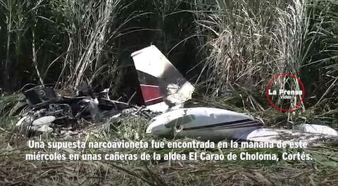 Hallan supuesta narcoavioneta en el norte de Honduras