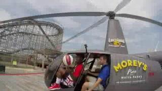 Los Trotamundos de Harlem se anotan proeza desde helicóptero