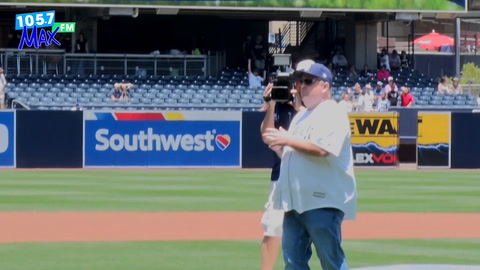 JJ Throws First Pitch At Petco Park!