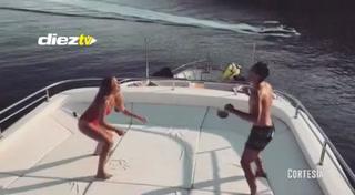 Esposa de Kovacic demuestra que es una crack con el balón