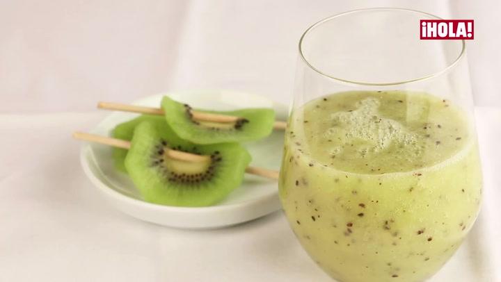 Vídeo-receta: Batido de kiwi y plátano