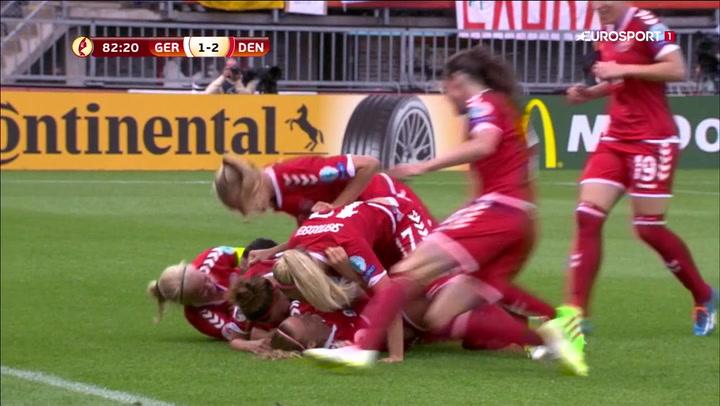 Jaaa!! Danmark foran med otte minutter igen