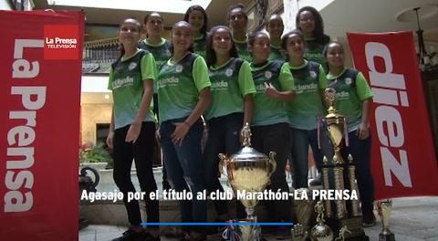 Agasajo por el título al club Marathón-LA PRENSA