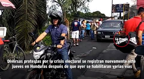 Se reportan tomas de carretera en varios puntos de Honduras