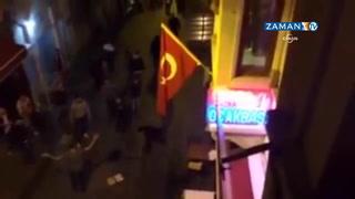 Galatasaray ve Dortmund taraftarı birbirine girdi