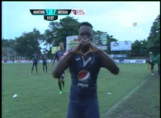 Wilmer Crisanto pone el segundo gol para Motagua ante el Monstruo