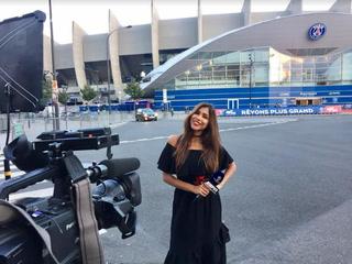 Periodista colombiana es acosada en vivo por aficionado ruso