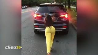 Viral: La chica fitness que tuvo 'graves' problemas con su camioneta