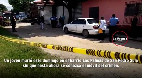 Matan a tiros a un joven en San Pedro Sula