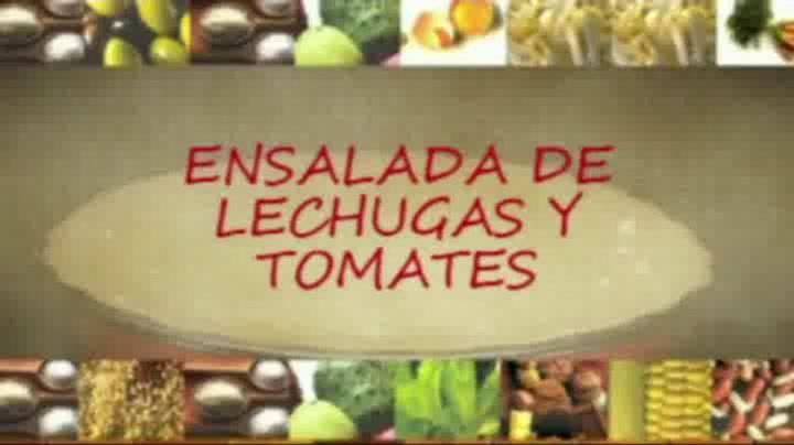 Recetas paso a paso: Ensalada de lechugas y tomates