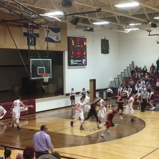 Licking's Brady Smith with a posterizing dunk vs. Willow Springs