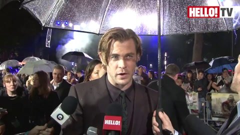 Natalie Portman and Chris Hemsworth talk to HELLO! on the red carpet