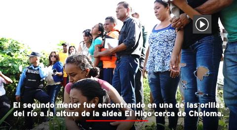 Encuentran el cuerpo del segundo menor desaparecido en el río Chamelecón