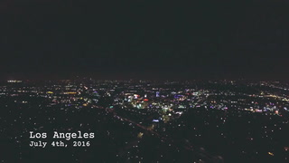 Fourth of July Fireworks Over Los Angeles