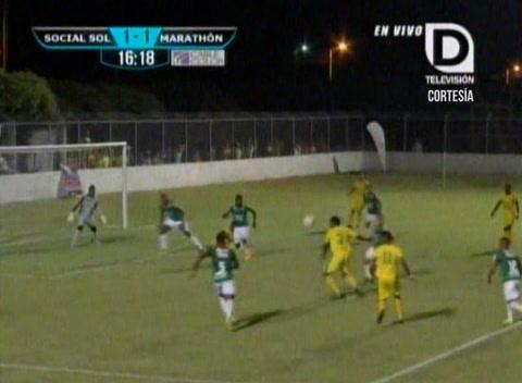 Gol de Social Sol al Marathón (Liga Nacional)