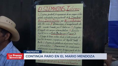 Continúa paro en el Mario Mendoza