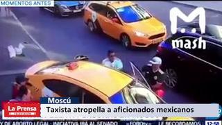 Taxista atropella a aficionados en Moscú