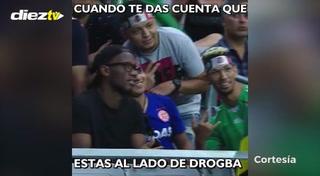 Didier Drogba estuvo anoche en el juego México-Honduras