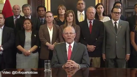 Último: Pedro Kuczynsky renuncia como presidente de Perú