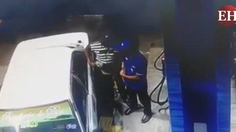 Tegucigalpa: Taxista asalta con pistola a empleado de una gasolinera