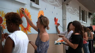Art Students Beautify Homeless Shelter