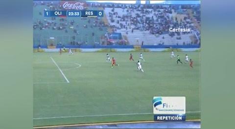 El fallo de Ángel Tejeda ante el Olimpia (Liga Nacional 2017)