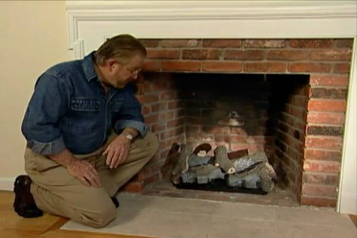 How to Put in a Gas Log Set for a Fireplace • DIY Projects & Videos