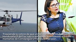 INFORME ESPECIAL: Desaparece helicóptero donde viajaba hermana del presidente JOH
