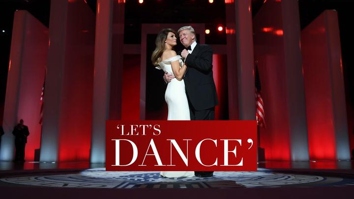 En vídeo: El primer baile de Donald y Melania Trump
