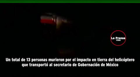 Trece personas murieron en accidente de helicóptero de ministro mexicano