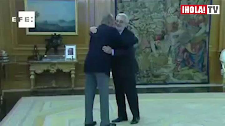 Plácido Domingo, al Rey: \'Me encuentro muy bien\'