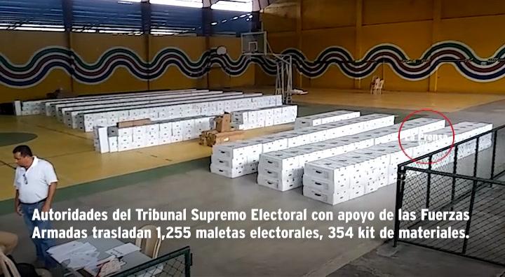 Inician traslado de urnas a municipios de Yoro