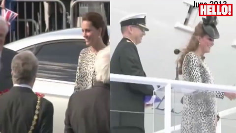 Heavily pregnant Kate turns to old maternity wardrobe for Margate outing