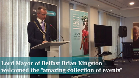 Video: Launch of Belfast International Arts Festival