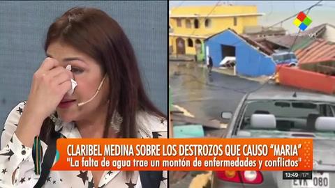 El llanto de Claribel Medina: Da mucha tristeza ver que tu país se cae a pedazos