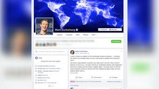 Zuckerberg reconoce responsabilidad y errores de Facebook