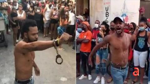 Salen las imágenes del violento arresto de Maykel Osorbo en La Habana