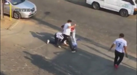 Violenta Pelea entre aficionados del Real Madrid y el Bracelona en Managua