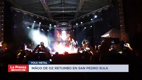 El rock de Mägo de Oz retumbó en San Pedro Sula