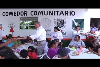 Inauguran comedor comunitario