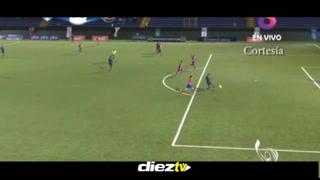 Sendel Cruz marca el 1-0 a favor de Honduras contra Costa Rica en los Juegos Centroamericanos